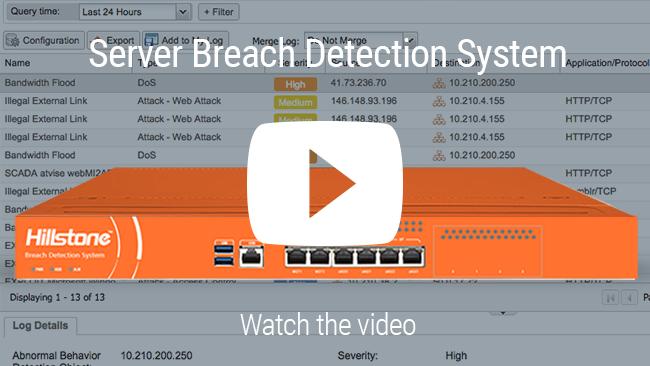 Watch Vídeo: Hillstone sistema para detectar violações de segurança em servidores